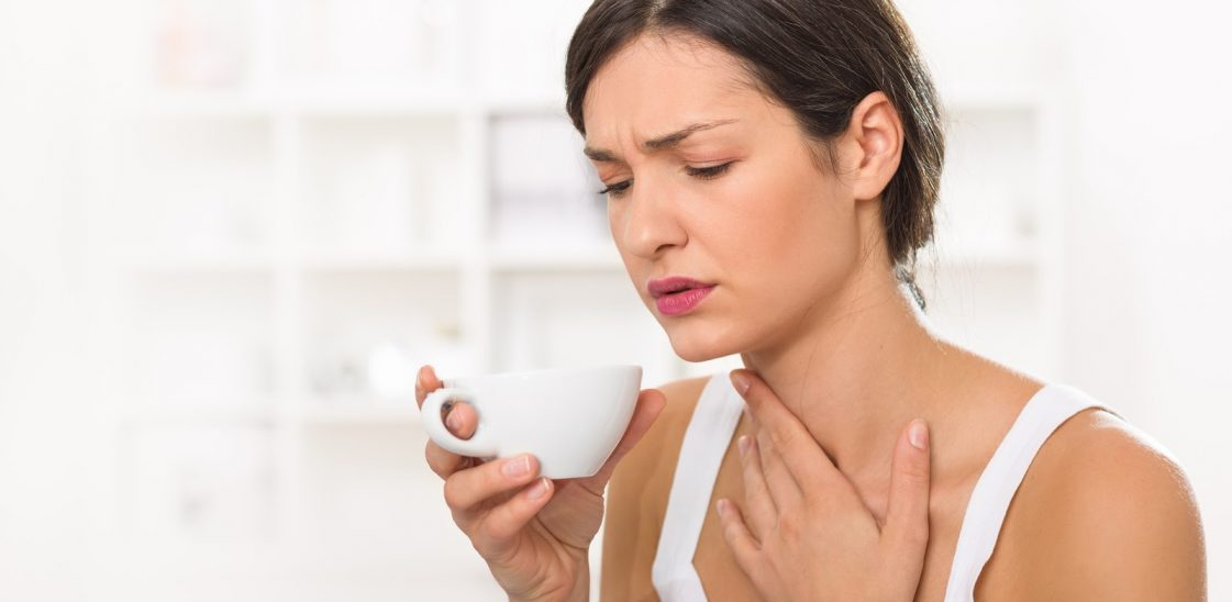Why is a sore throat worse in the morning?